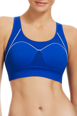 883b4caca0 Berlei Ladies Sports Balance Seamfree Wirefree Crop Bra size Medium Colour  Blue