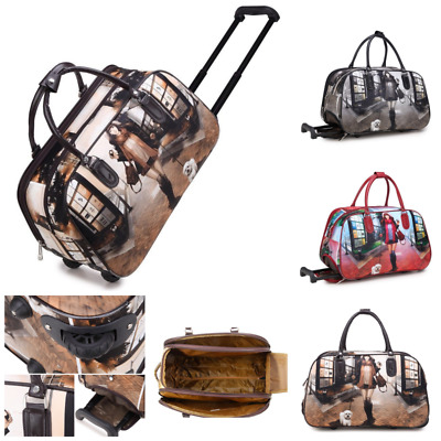 Fashion Girl Dog Holdall Trolley Weekend Puppy Cabin Size Luggage Travel Handbag
