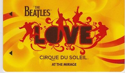 Mirage Las Vegas Vintage Casino Room Key. The BEATLES LOVE