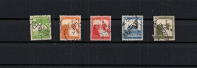 PALESTINE - 5 PERFINS STAMPS - APC - Postage Due. used (PAL- 65 )