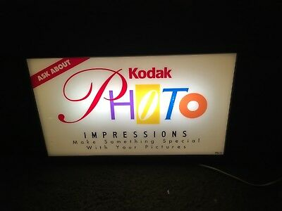 Nice Working KODAK LIGHTED SIGN FOR PHOTO IMPRESSIONS
