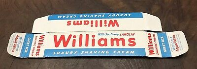 Williams Luxury Shaving Cream Vintage Box Guest Size Advertising Printed USA