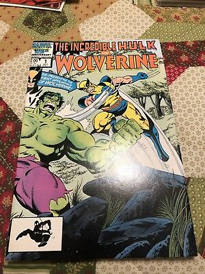 Incredible Hulk and Wolverine #1 (Oct 1986, Marvel)