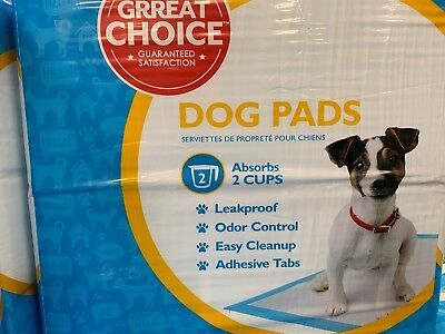 Great Choice Dog Pads 150 Count Absorbs 3 Cups New!
