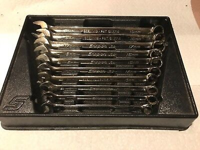 Snap On Soexm710 10 Pc 12 Pt Flank Drive Metric Wrench Set