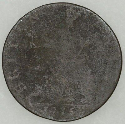 1775 Great Britain Half Penny King George III Readable Date Decent Details