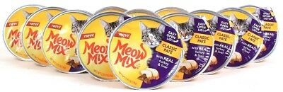 12 Meow Mix 2.75oz Classic Pate Real Turkey & Liver With Easy Open Lid BB 3/3/19