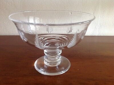 Stuart Crystal Woodchester With Dots Large Footed Bowl.