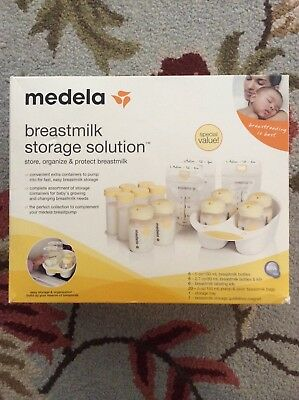 Medela: Breastmilk Storage Solution (Bottles with Dial a Date and Screwtop Lids)