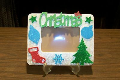 NEW Unique Handmade 6X8 Picture Photo Memory Frame with Easel CHRISTMAS