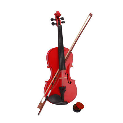 Full Size Student 4/4 Violin Handed Natural Acoustic Fiddle with Bow Rosin case