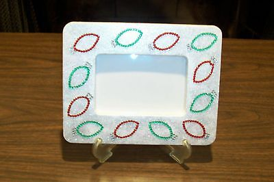 NEW Unique Handmade 6X8 Picture Photo Memory Frame w/Easel CHRISTMAS LIGHTS