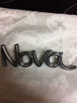 Nova Car Badge With Tab Nice Chevrolet
