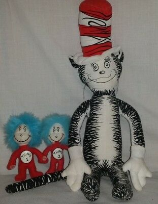 Rare Dr Seuss Cat in the Hat Plush Horton Hears Who Train Ertl Mix Lot Thing 1 2