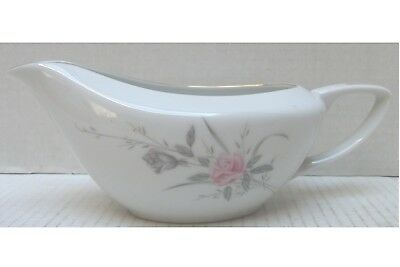 Vintage Golden Rose Fine China Japan MS Gravy Boat Pink Rose W/Gold Trim