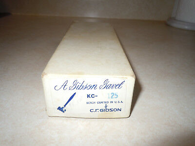 A Gibson Gavel. c.r.gibson  KC- 125 in Original Box.  Bench Crafted Mahogany