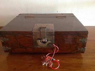 Large Vintage Asian Wooden Box