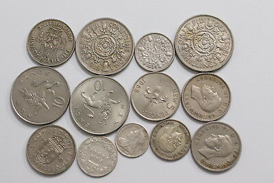 Uk Gb Old Coins Lot With Silver A99 Sbbb17