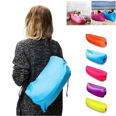 Portable Air Sleeping Bag Lazy Chair Lounge Beach Sofa Bed Inflatable Camping/-X