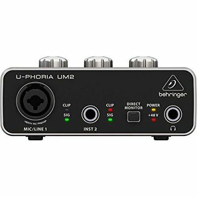 BEHRINGER UM 2 USB Audio Interface FREE shipping Worldwide