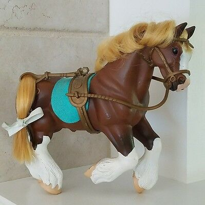 1996 CC Empire Industries, Clydesdale Plastic  Horse. Saddle, Blanket and Bridle