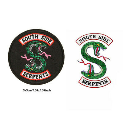 Riverdale South Side Serpents Embroidery Iron on Patches Badges Clothes Stickers