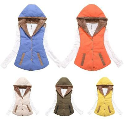 Winter Women Vest Hooded Jacket Warm Gilet Sleeveless Coat Ladies Waistcoat New
