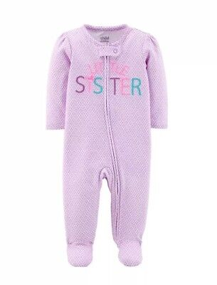 Child Of Mine By Carters Zip Front Sleep N Play   Infant Girls 6-9 Months Purple