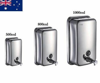 Stainless Steel Commercial Grade Polished Wall Mounted Lotion Soap Dispenser AU
