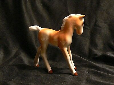 Vintage Josef Colt Foal Filly Horse Figurine Statue Palomino Gloss. Collectible