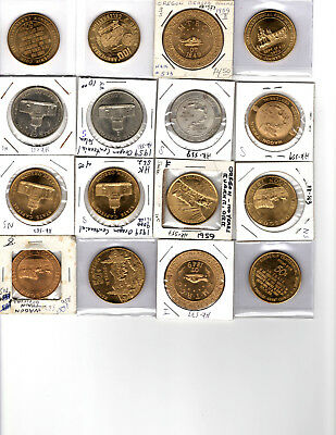 Sixteen Mostly Hk-Listed Oregon Centennial So-Called Dollar Medals & Tokens