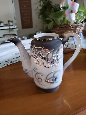 Vintage Dragonware Moriage TeaPot Hand Paint Occupied Japan