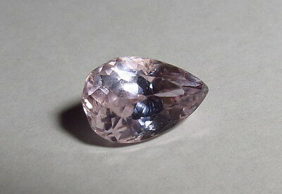 12x8mm PINK KUNZITE faceted PEAR CUT LOOSE GEMSTONE from natural rough