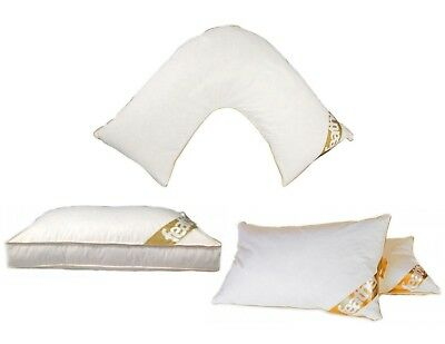 Luxury Goose Feather And Down Pillow Box Standard Back & Neck Support V Shaped