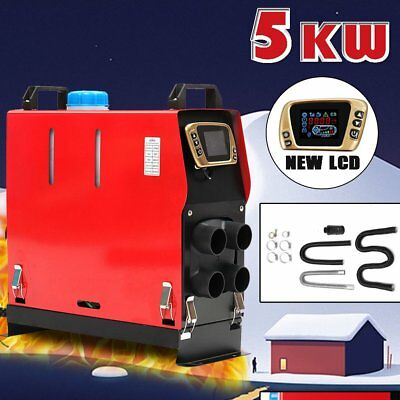 12V 5000W Air Diesel Heater Thermostat 4 Hole LCD For Caravan Motorhome RV NU