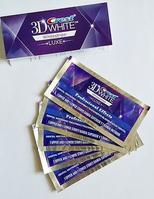 5 TREATMENT Crest 3D White Luxe Professional Effects Whitening 5 POUCHES