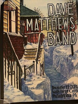Dave Matthews Band Poster Philadelphia PA 12/11/18 Philly #631/810.