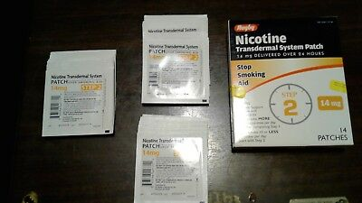 Nicotine Transdermal System / Step 2- 14 mg Patches EXP OCT, 2019 LOT OF 4X14