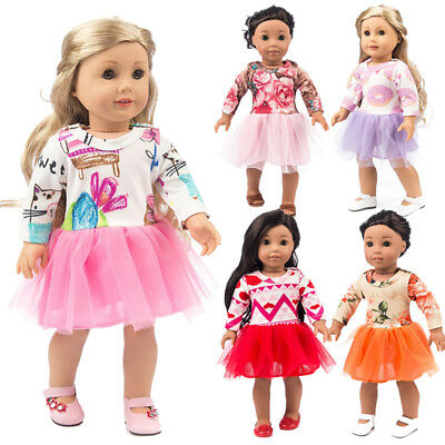 Fashion Doll Clothes Dress Outfits For 18 inch Girl Accs