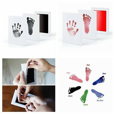 Souvenir Gift New Baby Paw Print Pad Foot Photo Frame Touch Ink Pad Baby Items