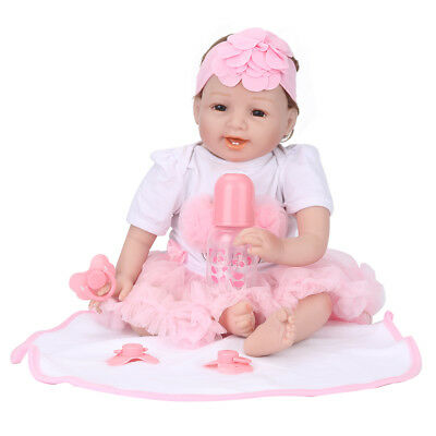 Realistic Baby Girl Soft Vinyl Silicone Cotton Reborn Dolls Alive Doll Gift
