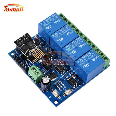 ESP8266 ESP-01 12V 4 Channel WiFi Relay Module For IOT Phone APP Controller