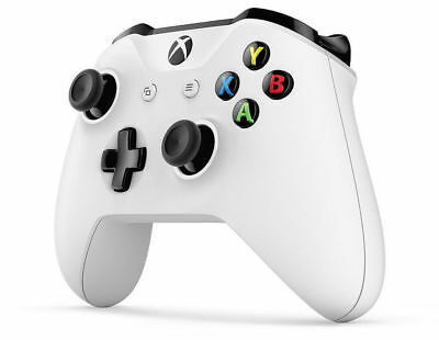 Xbox One S White Bluetooth Wireless Microsoft Controller with 3.5mm Headset Jack
