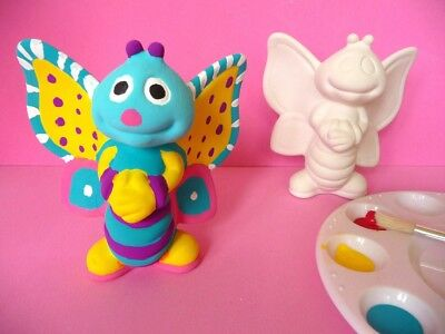 PAINT YOUR OWN BUTTERFLY Pottery - Kids Craft Activity - 11cm X 10cm
