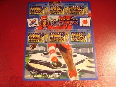 Liberia - 2002 World Cup 19 - Minisheet - Unmounted Mint Miniature Sheet