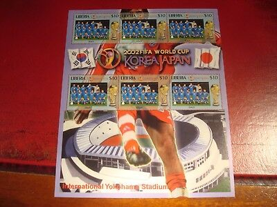 Liberia - 2002 World Cup 21 - Minisheet - Unmounted Mint Miniature Sheet