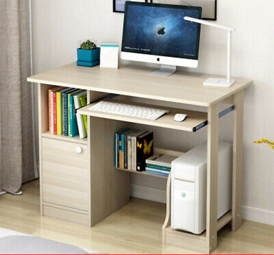 Computer Desk PC Table Cupboard Keyboard Writing Table Home Office Study UK