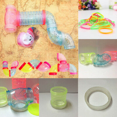 Multi-Style Hamster Tunnel Fittings Transparent Acrylic Cage Small Pet Toys