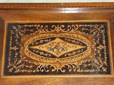 Late Victorian Grand Tour Sorrento Ware Marquetry Inlaid Picture / Tray