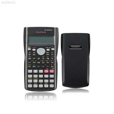 BD4A Black Plastic 82MS B Portable Handheld Handy Multifunctional Calculator